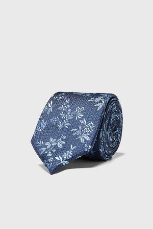 Zara Hombre Corbatas y corbatín - Corbata ancha jacquard floral