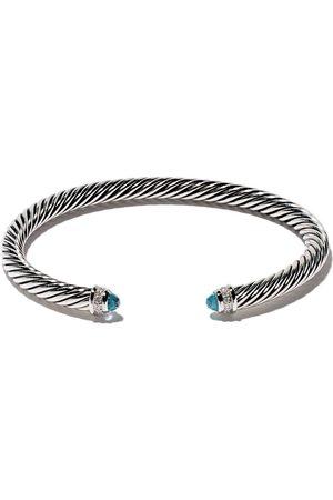David Yurman Brazalete Cable Classic con diamantes y topacios azules