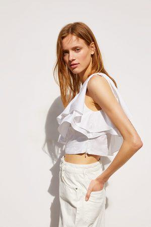 Zara Mujer Minifaldas - Falda mini denim