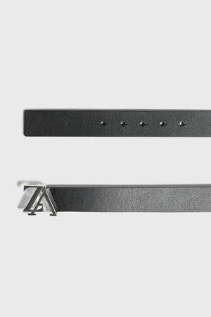 Zara Hombre Cinturones - Cinturón piel hebilla logo