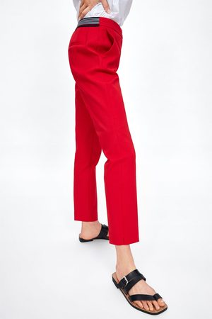 Zara Mujer Joggers - Pantalón jogger waist