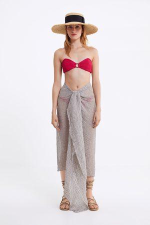 Zara Sujetador bikini bandeau textura