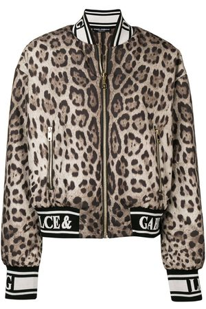 Dolce & Gabbana Chaqueta bomber con motivo de leopardo