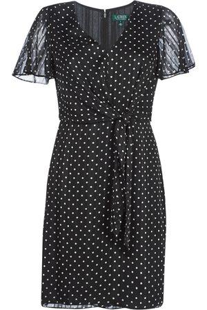 Ralph Lauren Vestido POLKA DOT-SHORT SLEEVE-DAY DRESS para mujer