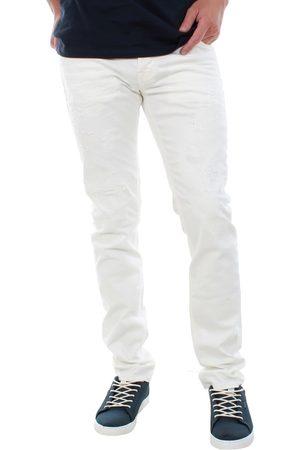 Jack & Jones Pantalón pitillo 12122310 JJIGLENN JJORIGINAL JOS 559 WHITE DENIM para hombre