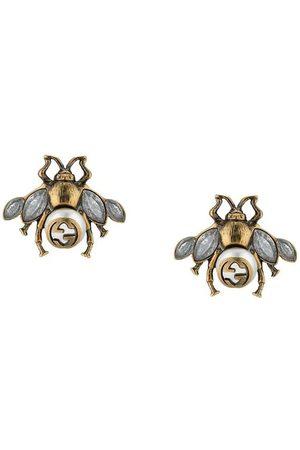 Gucci Pendientes de abeja con cristales
