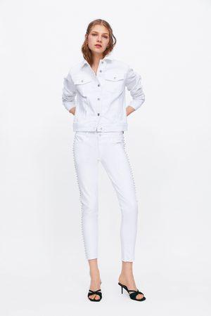Zara Jeans z1975 mid rise skinny brillos
