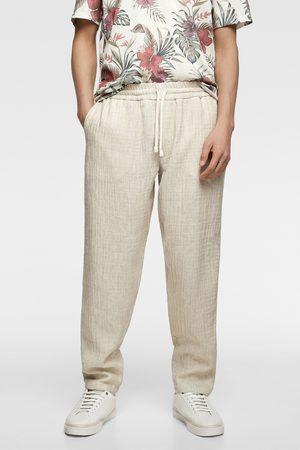 Zara Hombre Joggers - Pantalón jogger rústico