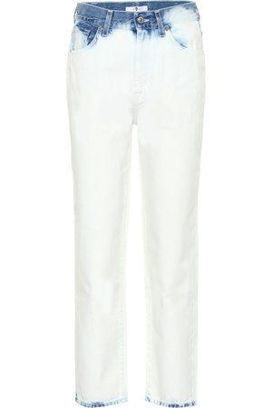 7 for all Mankind Jeans Malia cropped de tiro alto