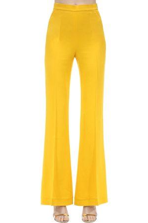 MARIANNA SENCHINA | Mujer Pantalones Acampanados De Crepé De Viscosa Xs