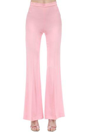 MARIANNA SENCHINA   Mujer Pantalones Acampanados De Crepé De Viscosa Xs