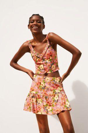 Zara Short falda estampado flores
