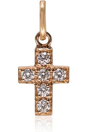 GIGI CLOZEAU Charm de cruz con seis diamantes