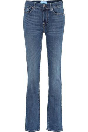 7 for all Mankind Jeans rectos B(AIR) de tiro alto