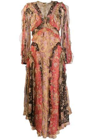 ZIMMERMANN Vestido floral en patchwork