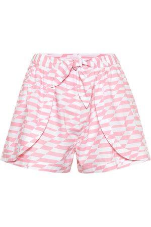 ALEXANDRA MIRO Shorts Bella de algodón estampado
