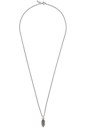 EMANUELE BICOCCHI Collar con diseño de pluma con calavera