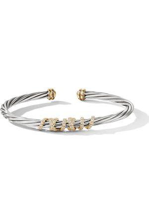 David Yurman Mujer Pulseras - Brazalete Helena en plata de ley y oro de 18kt con diamantes
