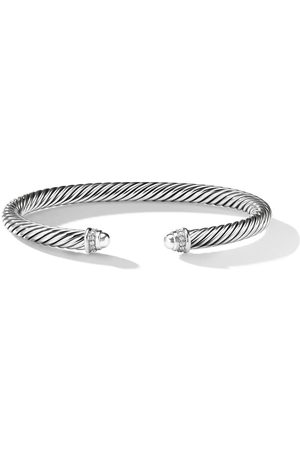 David Yurman Pulsera Cable Classics con detalles de diamantes