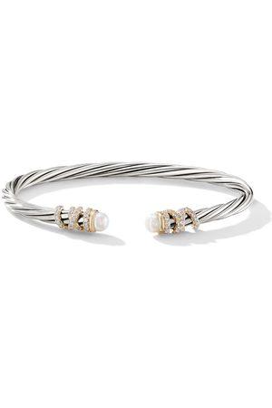 David Yurman Mujer Pulseras - Brazalete Helena en plata de ley y oro de 18kt con perlas y diamantes