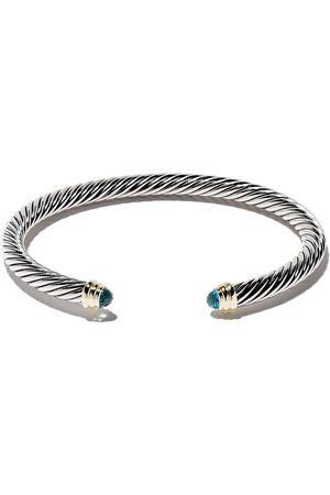 David Yurman Brazalete Cable Classics con topacios azules en oro 14kt