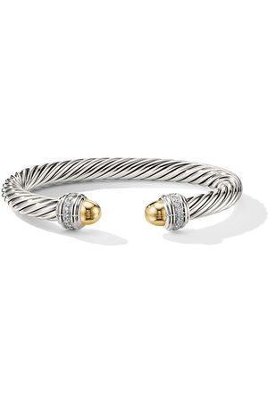David Yurman Mujer Pulseras - Pulsera Cable en oro amarillo de 14kt con diamantes