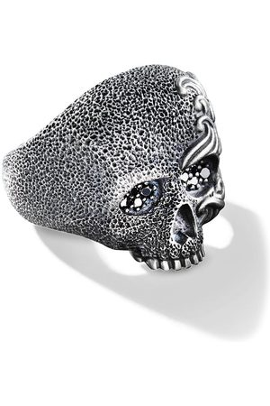 David Yurman Anillo Waves con calavera y diamantes