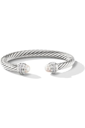 David Yurman Pulsera Cable con detalle de perlas y diamantes