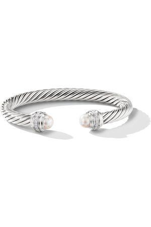 David Yurman Pulsera Cable con detalle de perlas y diamantes
