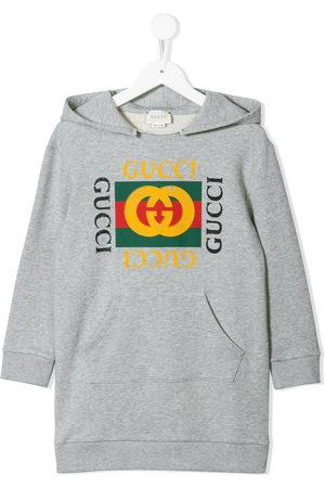 Gucci Vestido estilo sudadera con estampado del logo