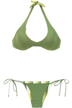 AMIR SLAMA Bikini con diseño reversible