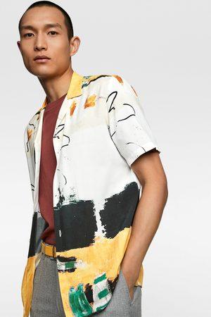 Zara Camisa estampado abstracto