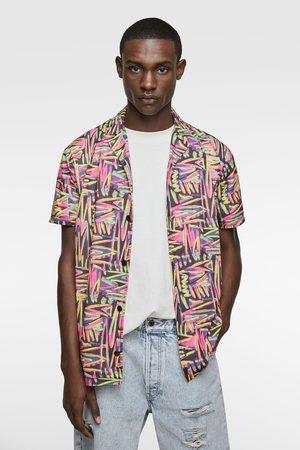 Zara Camisa estampado geométrico