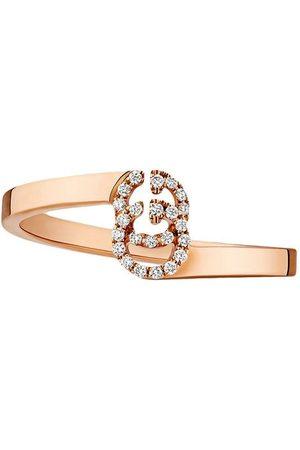 Gucci Anillo GG en oro con diamantes