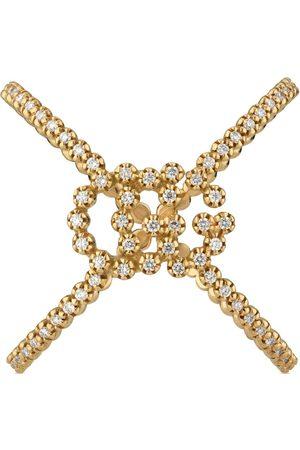 Gucci Anillo de diamantes GG Running en forma de X