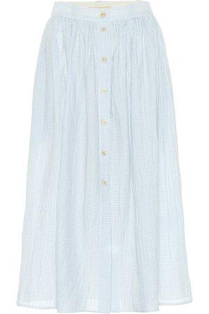 BROCK COLLECTION Exclusivo en Mytheresa – falda midi Olivo de algodón