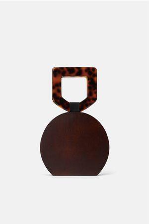 Zara Bolso de mano madera