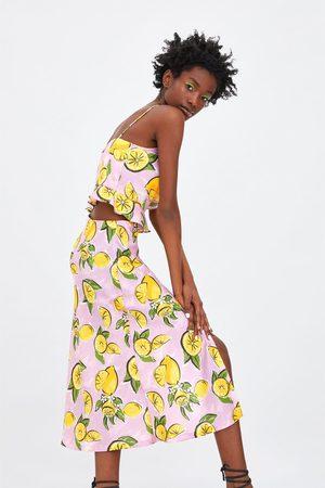 Zara Falda estampado limones