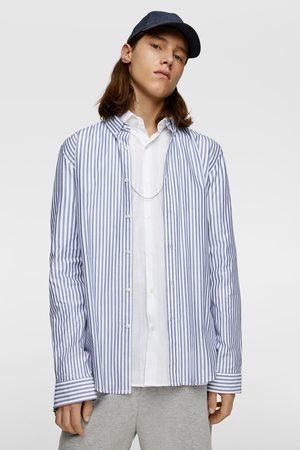 Zara Hombre Camisas - Camisa oxford rayas