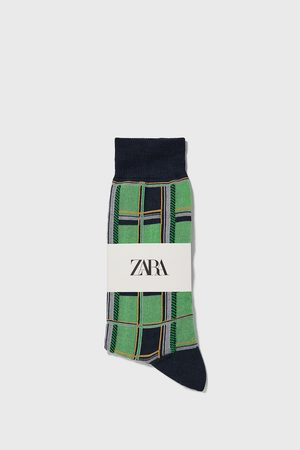 Zara Hombre Calcetines - Calcetín mercerizado cuadros