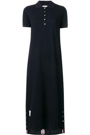 Thom Browne Vestido estilo polo de piqué