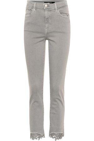 J Brand Jeans Ruby skinny cropped tiro alto