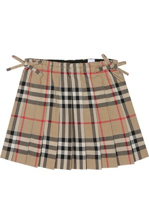 Burberry Falda de algodón de cuadros