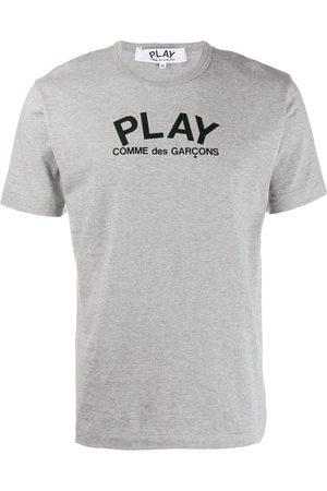 Comme des Garçons Camiseta con logo y cuello redondo