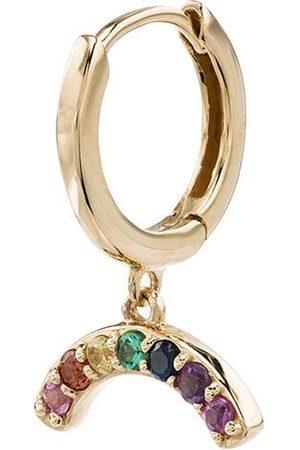 Andrea Fohrman Pendiente Rainbow en oro con detalle de zafiros