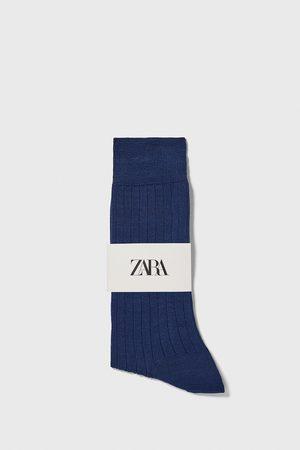 Zara Hombre Calcetines - Calcetín canalé mercerizado premium