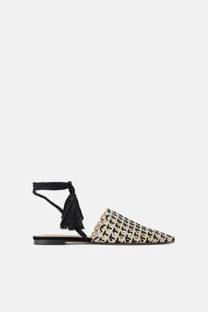 Zara Mujer Planos - Mule plana trenzada