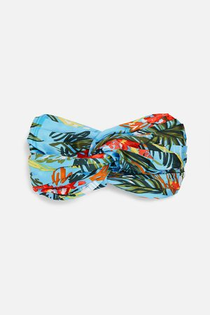 Zara Diadema turbante estampado