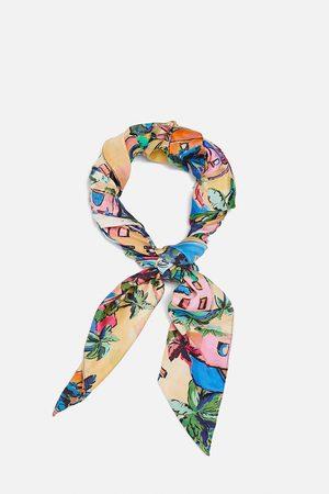 Zara Mujer Bufandas y Pañuelos - Pañuelo estampado
