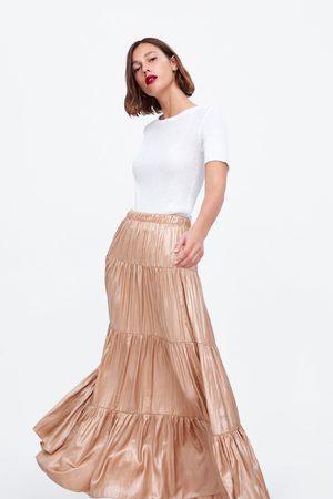 Zara Mujer Acampanadas - Falda volantes